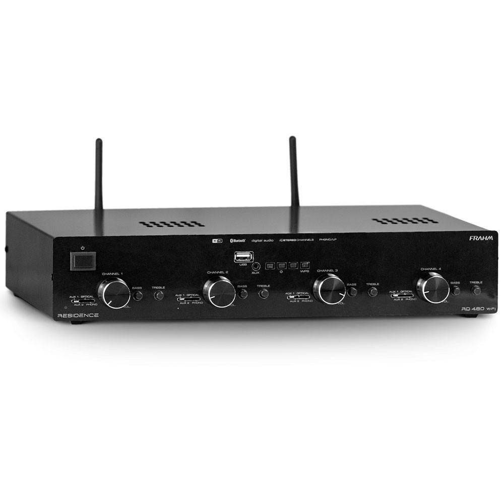 Amplificador Receiver Som Ambiente RD480 WIFI Residence FRAHM